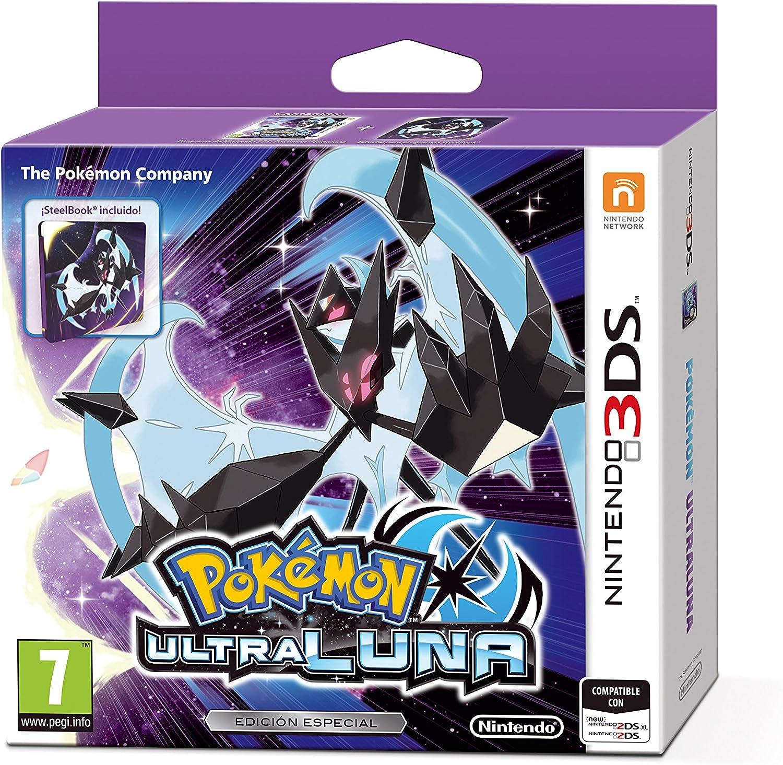 3DS Pokémon Ultraluna Edición Especial Steelbook: Amazon.es ...