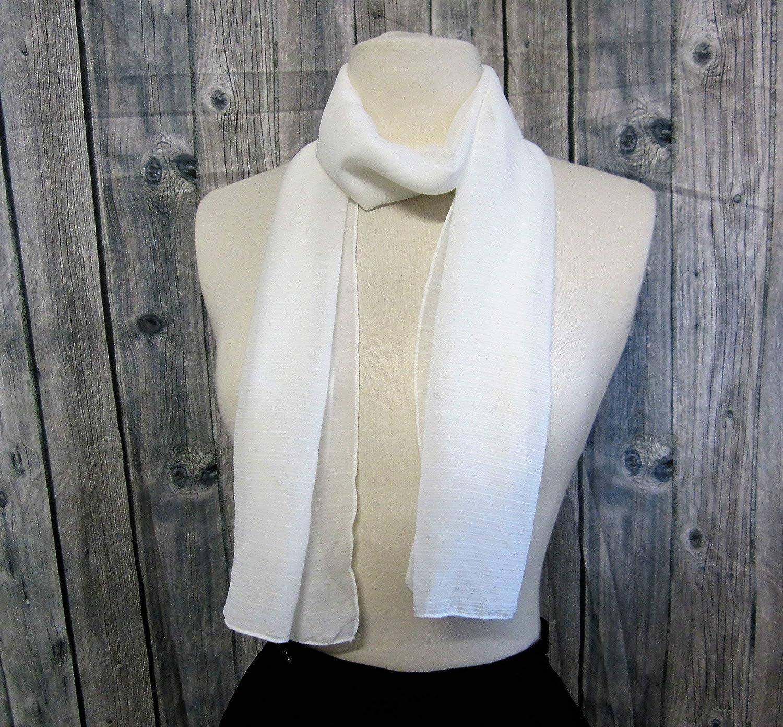 Echarpe en mousseline de polyester Blanche