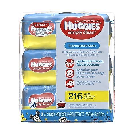 Huggies Simply Clean Baby Wipes - Unscented - Flip Top - 216 ct by Huggies