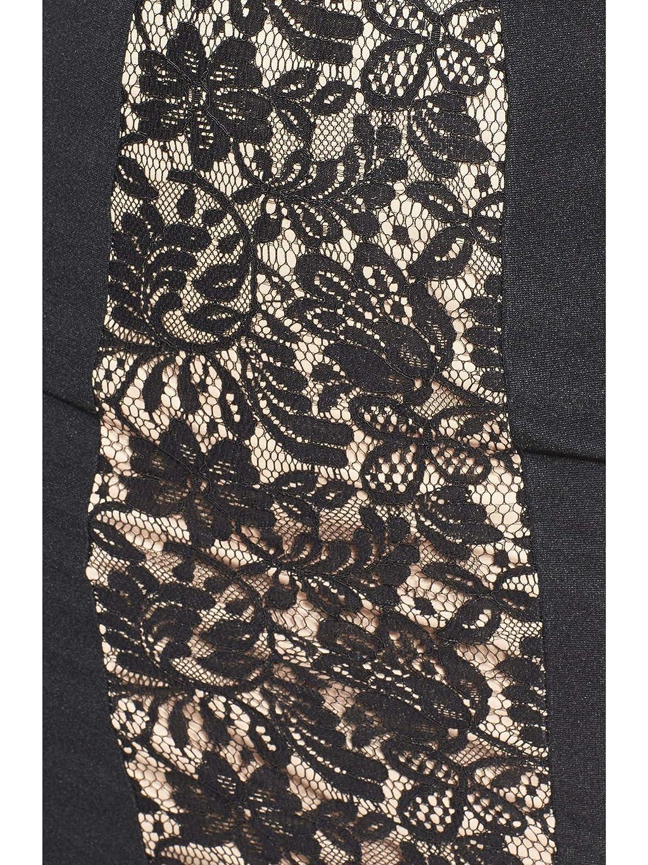 Black//Pecan City Studios Juniors Lace-Panel Dress 11
