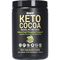 Giant Sports Keto Cocoa - Sugar Free Hot Chocolate with MCTs for Low Carb Ketogenic and Paleo Diet, Gluten Free, 20 Servings