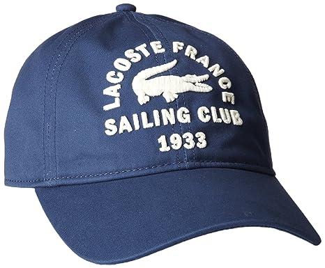 da8a06eb800 Lacoste Men s Gabardine Sailing Graphic Hat