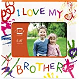 Prinz I Love My Brother Wood Frame for 6 by 4-Inch Horizontal Photo