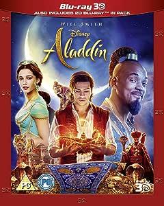 Disney's Aladdin 3D + 2D BLU RAY ( ALL REGIONS UK IMPORT )