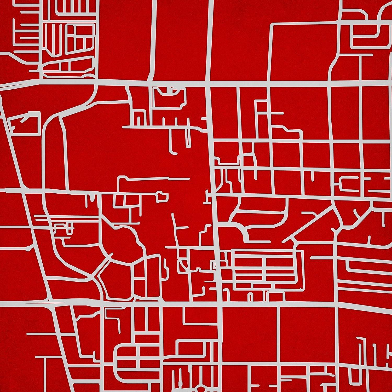 Lu Campus Map.Amazon Com University Of Nevada Las Vegas Campus Map Art 14