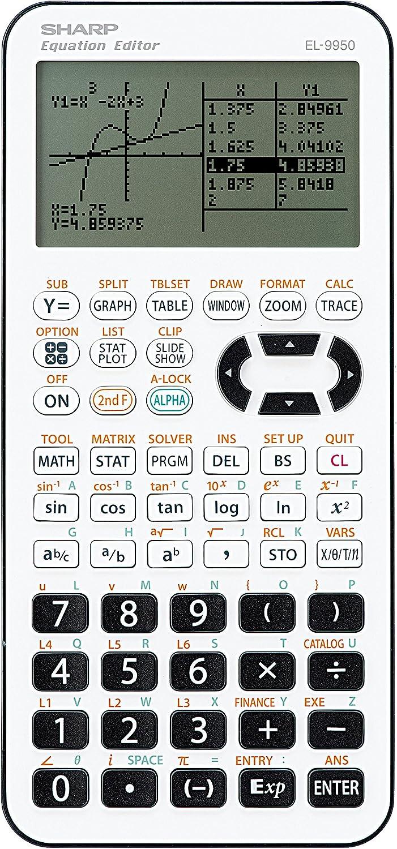Sharp Electronics EL9950 Calcolatrice grafica per scuola secondaria di I e II grado colore bianco//nero
