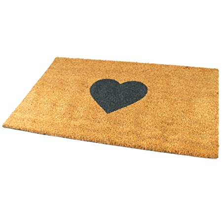 Beau Black Ginger Large, Thick, Decorative, Patterned Coir Door Mats With Nature  Designs (