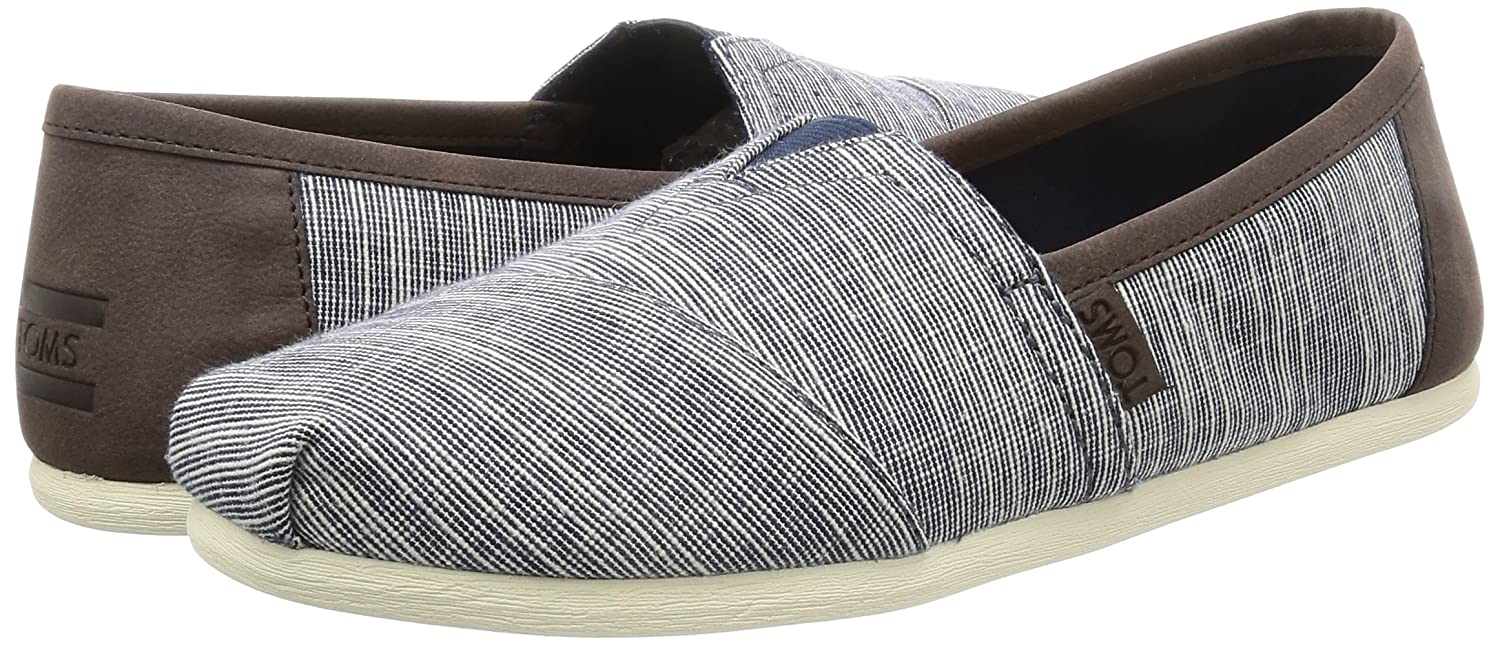 Amazon.com | TOMS Men's Seasonal Classics Navy Microstripe/Trim Loafer |  Loafers & Slip-Ons