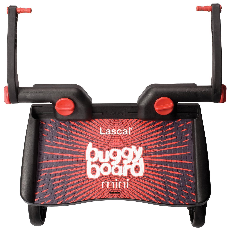 color rojo y negro Buggy Board Mini Lascal 2850 Tabla con ruedas para carrito