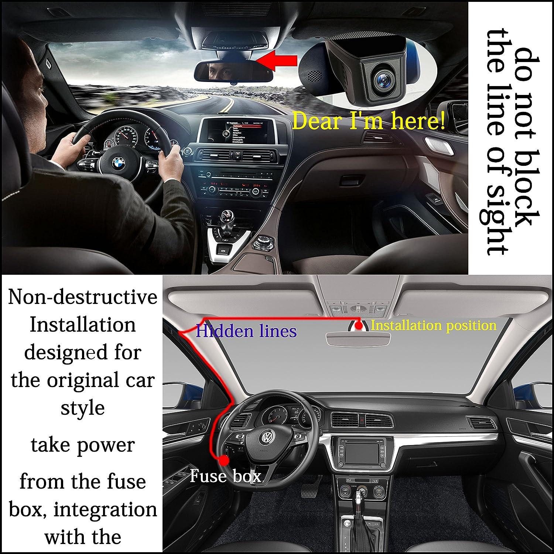 Dash Cam With Wifi Fhd 1080p Car Recorder Hidden Hd Range Rover Fuse Box Of An 89 Dvr 16gb Card Obd Camera G Sensor 170 Degree Wide Angle