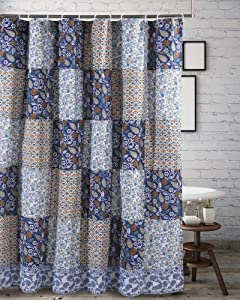 Greenland Home Pandora Shower Curtain, 72x72-inch, Blue