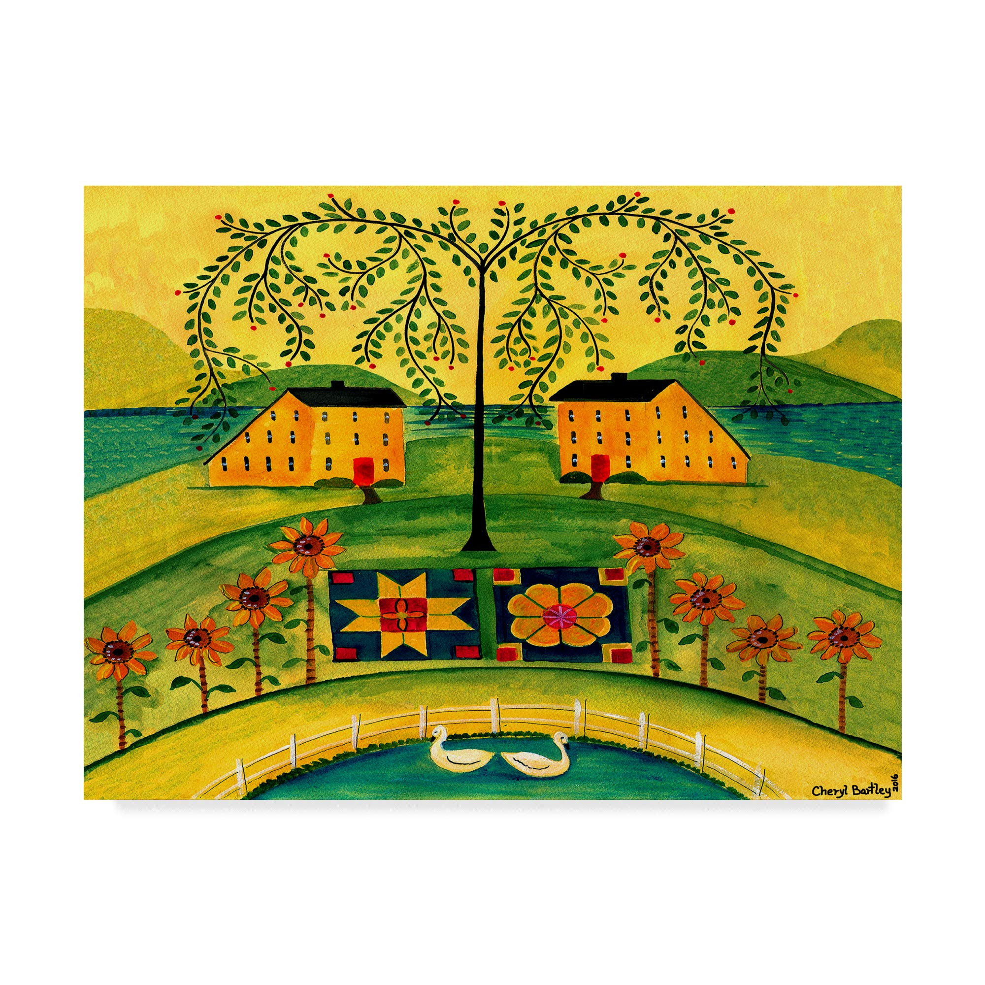 Trademark Fine Art Sow Seeds of Love by Cheryl Bartley, 24x32-Inch Fine Art Multicolor by Trademark Fine Art