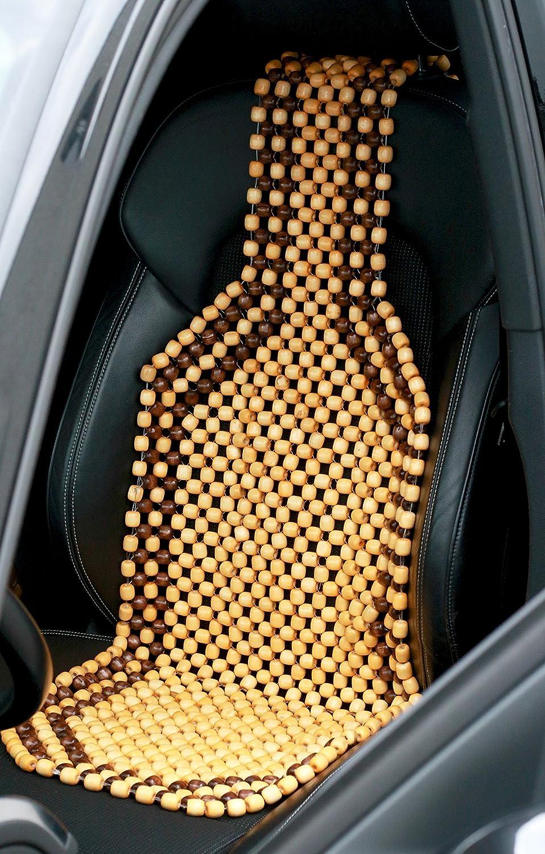Nostalgie Auflage Holzperlenaufleger Autositz Beige autooptimierer.de Auto-Sitzauflage Holzkugel mit universeller Passform