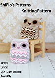 Knitting Pattern - KP239 - OWL CUSHION