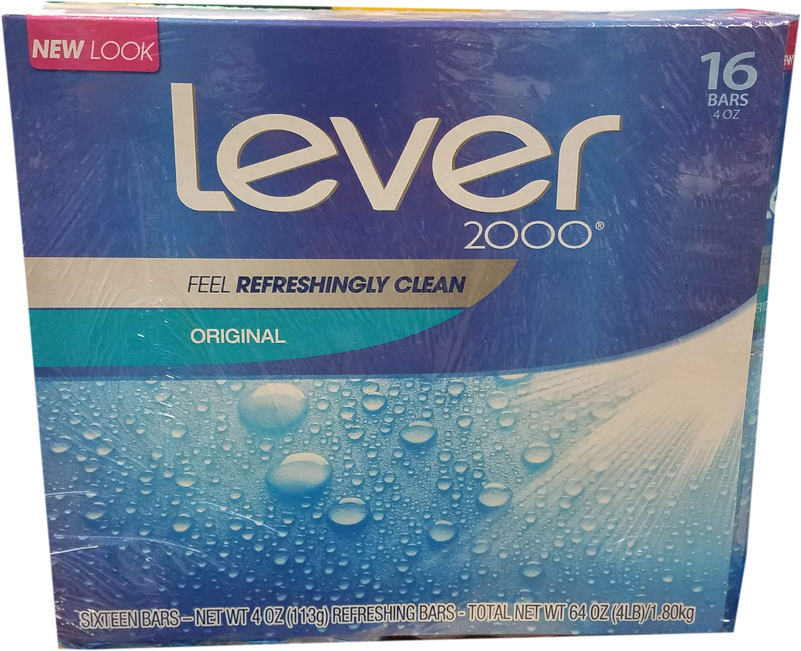 Lever 2000 Perfectly Fresh Bar Soap, 16 Count, 64 Ounce