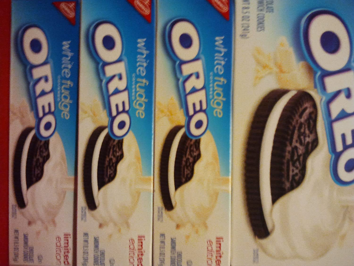 Amazon.com: White Fudge Covered Oreo, Limited Editon Chocolate ...