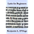 Latin for Beginners (French Edition)