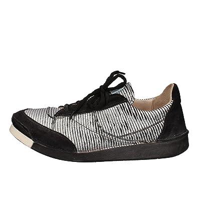 EuSchuheamp; Handtaschen Sneakers Damen Leder Silber Moma 37 wmN8nv0