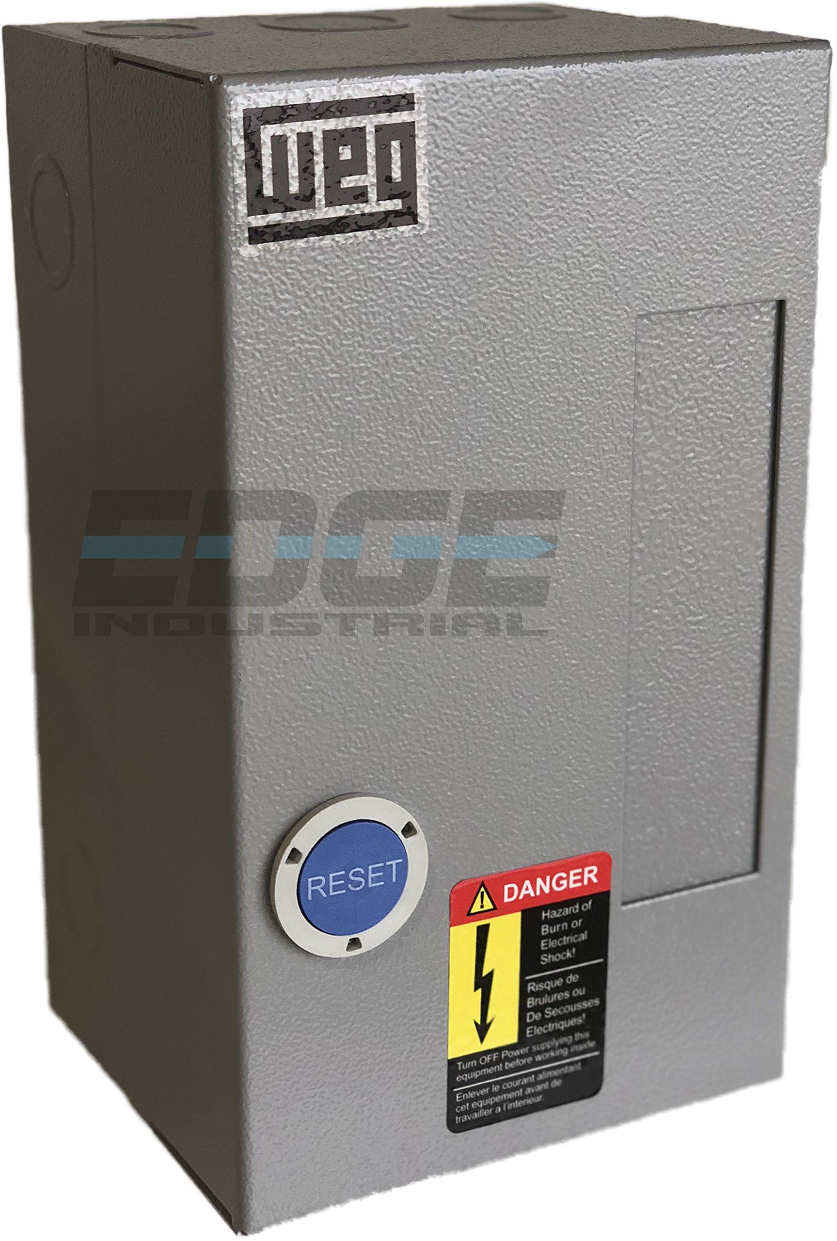 WEG MAGNETIC STARTER FOR ELECTRIC MOTOR AIR COMRPESSOR 5HP 1 PHASE 230V 32 AMP
