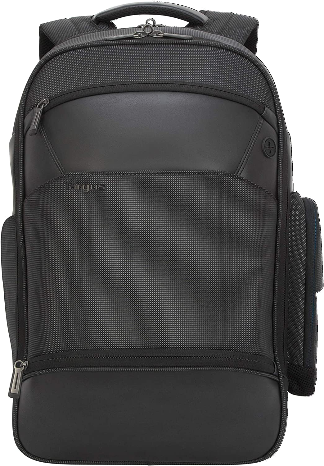 Targus Mobile-VIP Travel and Commuter Backpack with Protective Sleeve for 15.6-Inch Laptop and Wireless Phone Charger, Black (TSB970GL)