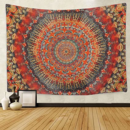 SENGE Tapestry Wall Tapestry Wall Hanging Hippie Mandala Tapestry Bohemian  Wall Tapestry Psychedelic Indian Bedspread Magical