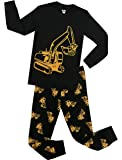 Little Boys Truck Pajamas Children Cotton PJs Christmas Sleepwear Gift Pants Set Excavator Clothes