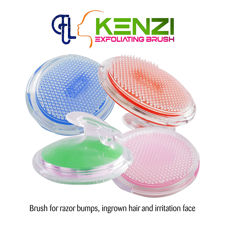 Kenzi Exfoliating Brush for Razor Bumps and Ingrown Hair Treatment - to Treat and Prevent Razor Bumps and Ingrown Hairs for Men and Women, Eliminate Shaving Irritation. (Pink) Eding Lili