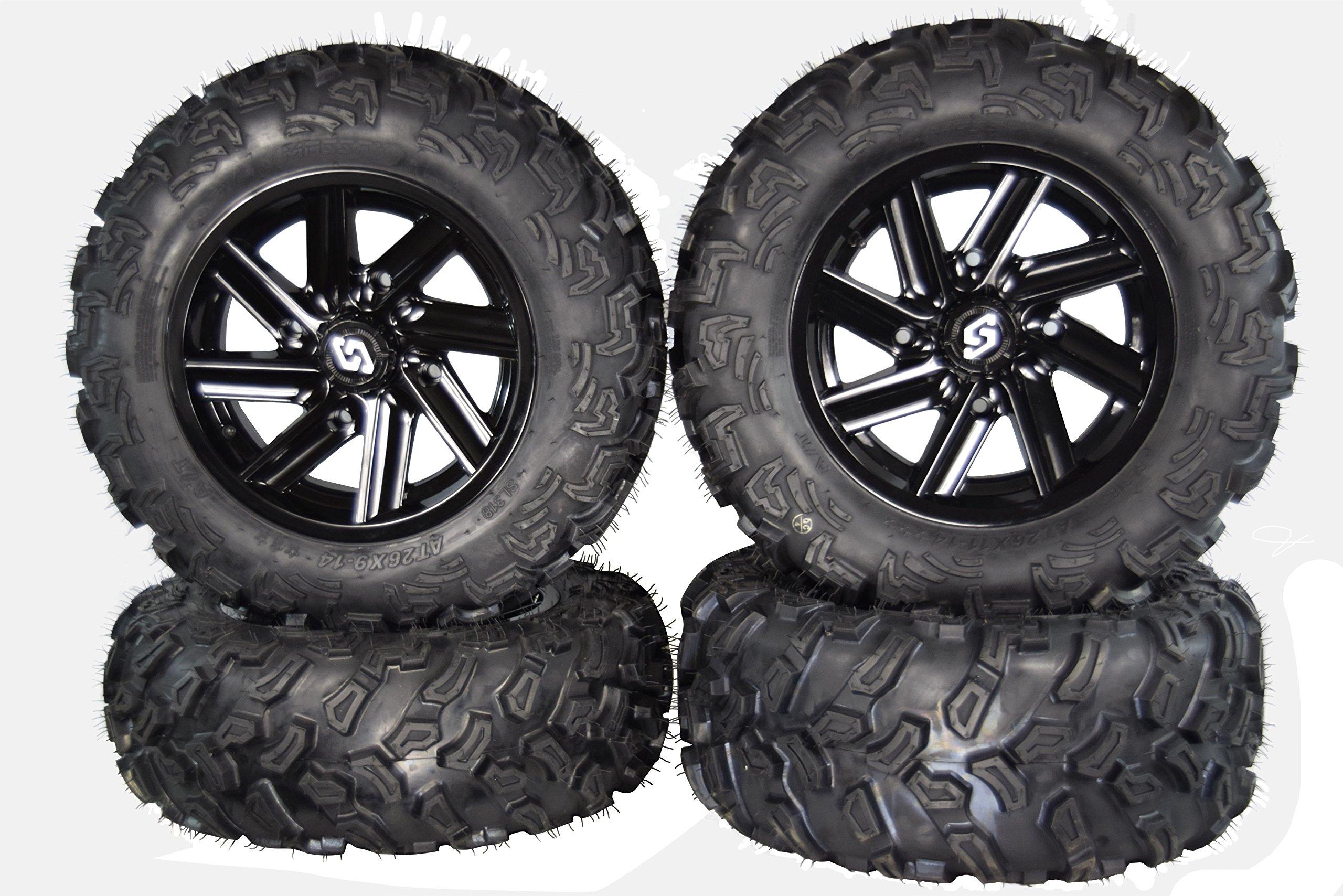 MASSFX SL 26'' Tall Wheel and Tire Kit for Polaris Sportsman W/ Sedona Chopper Rim
