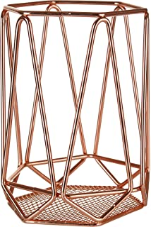 Interdesign classico storage basket large wire basket for premier housewares vertex utensil holder copper plated greentooth Image collections