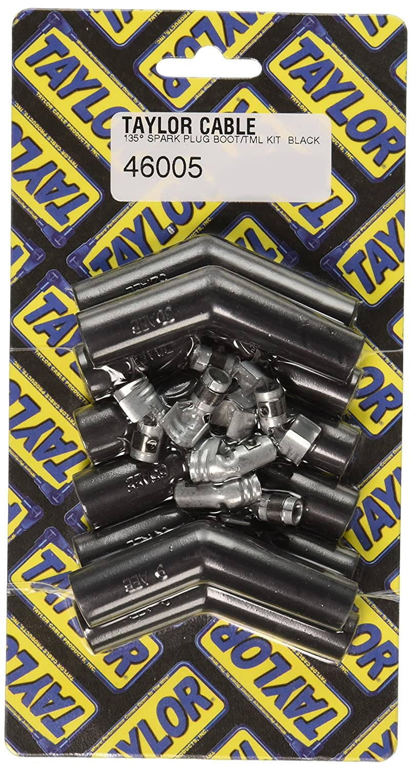 Taylor Cable (46005) 135° Black Spark Plug Boot/Terminal Kit