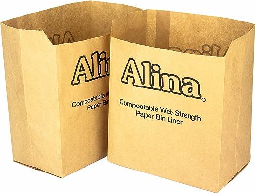 Alina 6L para 8L contenedor compostable papel Caddy bolsa ...