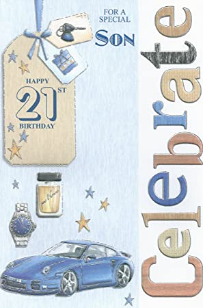 For A Special Son Happy 21st Birthday Card