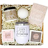 Birthday Gifts for Women - Best Relaxing Spa Gift Box Basket for Wife Mom Sister Girlfriend Best Friend Mother - Bday Bath Se