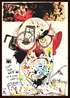 product image for Frame USA Ralph Steadman - Self Poortrait Poster (Architect Walnut Frame)(24x34)