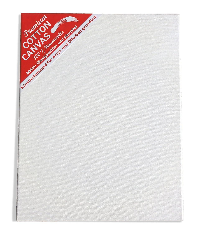 Professionelle K/ünstler Leinwand auf 3 cm Keilrahmen zum Malen 80 x 100 cm 340 g//m/²