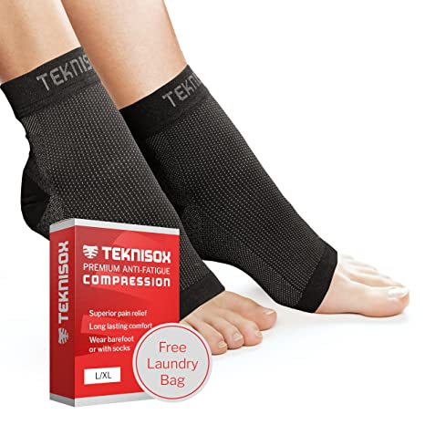 Socken Plantar-Fasziitis / Arthritis Kompressions-Manschetten - ÜBERLEGENE Schmerzlinderung in Füßen und Fersen, Zehenlose Fu