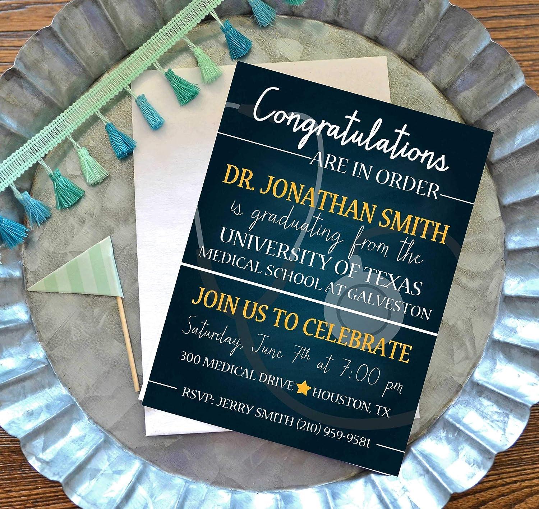 Amazon Medical Or Nursing School Graduation Party Invitations