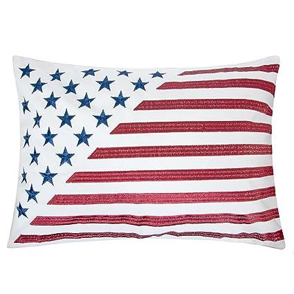 Amazon Homey Cozy American Flag Velvet Rectangle Throw Pillow New American Flag Decorative Throw Pillow