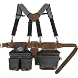 Dead On Tools DO-HSR Leather Hybrid Tool Belt with Suspender, Black