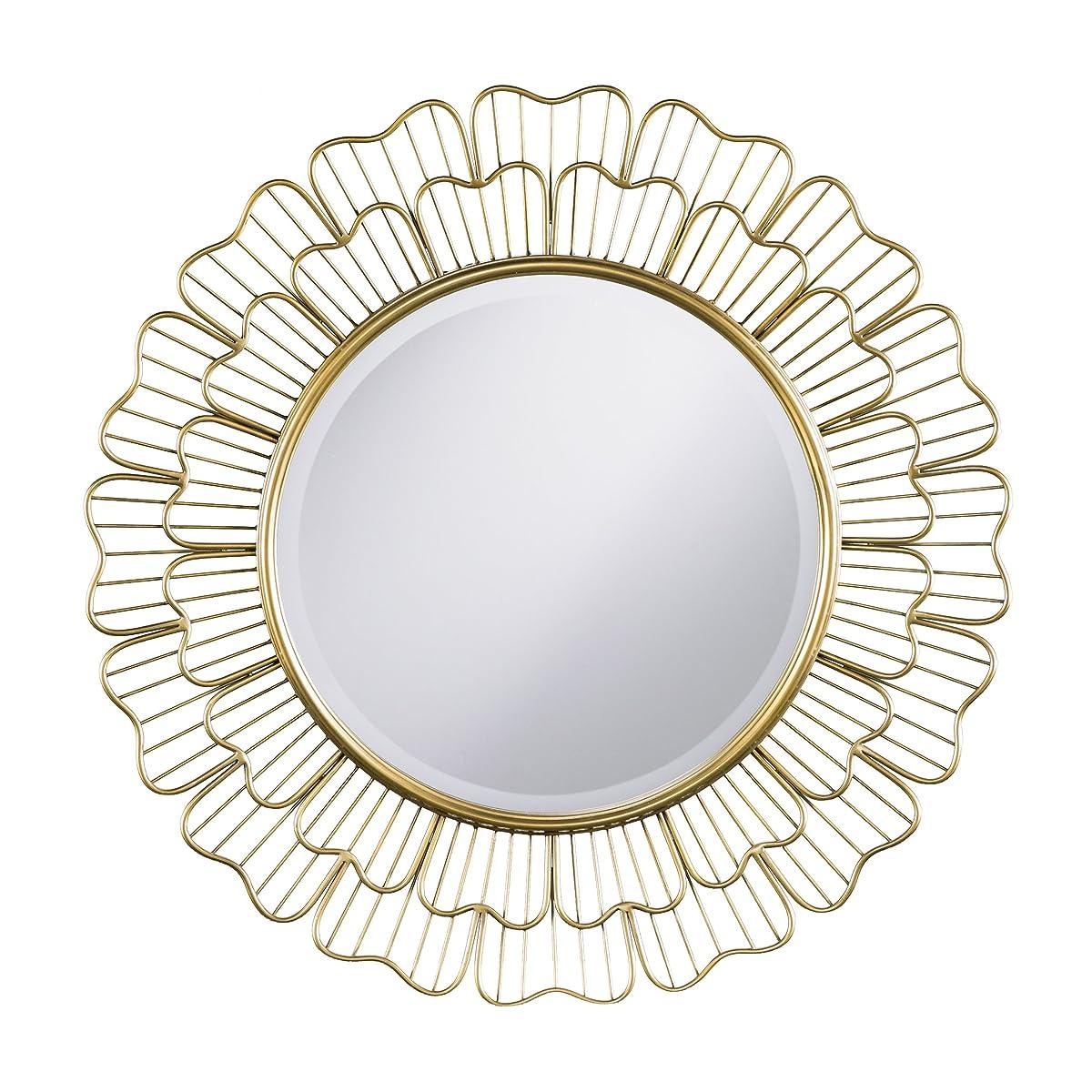 "Furniture HotSpot – Oversized Sunburst Mirror – Antique Bronze - 32.5"" W x 2"" D x 32.5"" H"