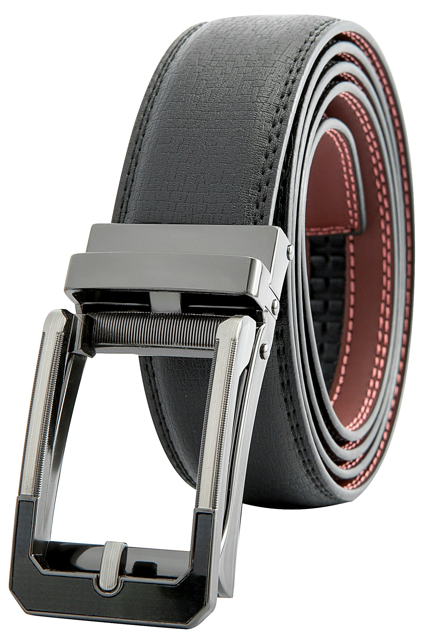 Men's Black Ratchet Belt - Black and Silver Open Style - by J. Dapper by J. Dapper (Image #1)