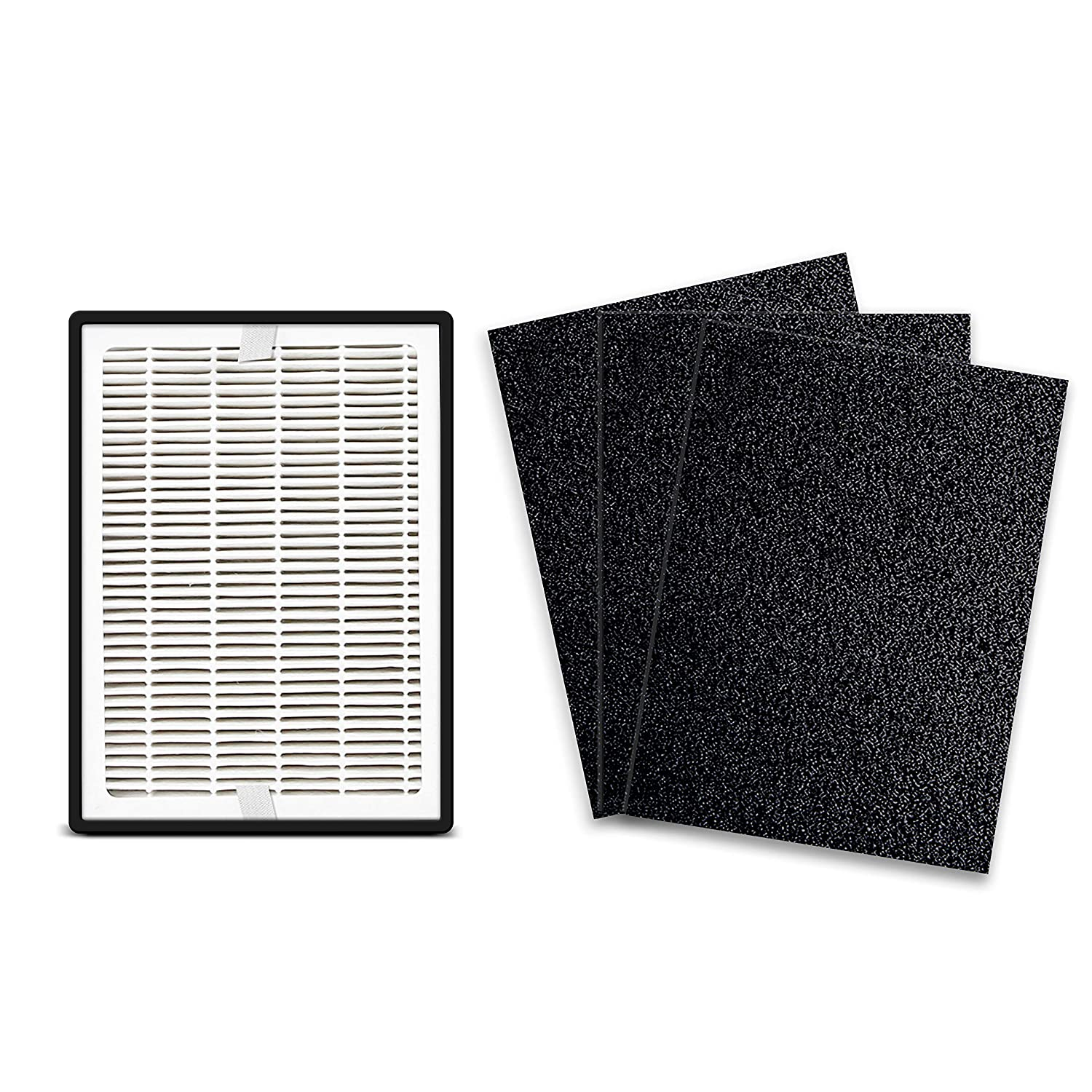 LEVOIT LV-H126 Air Purifier Replacement Filter, True HEPA and Activated Carbon Set, LV-H126-RF, 2 Extra Pre-Filters