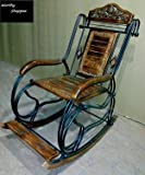 Worthy Shoppee Wooden & Iron Rocking Chair (Multi-Color)