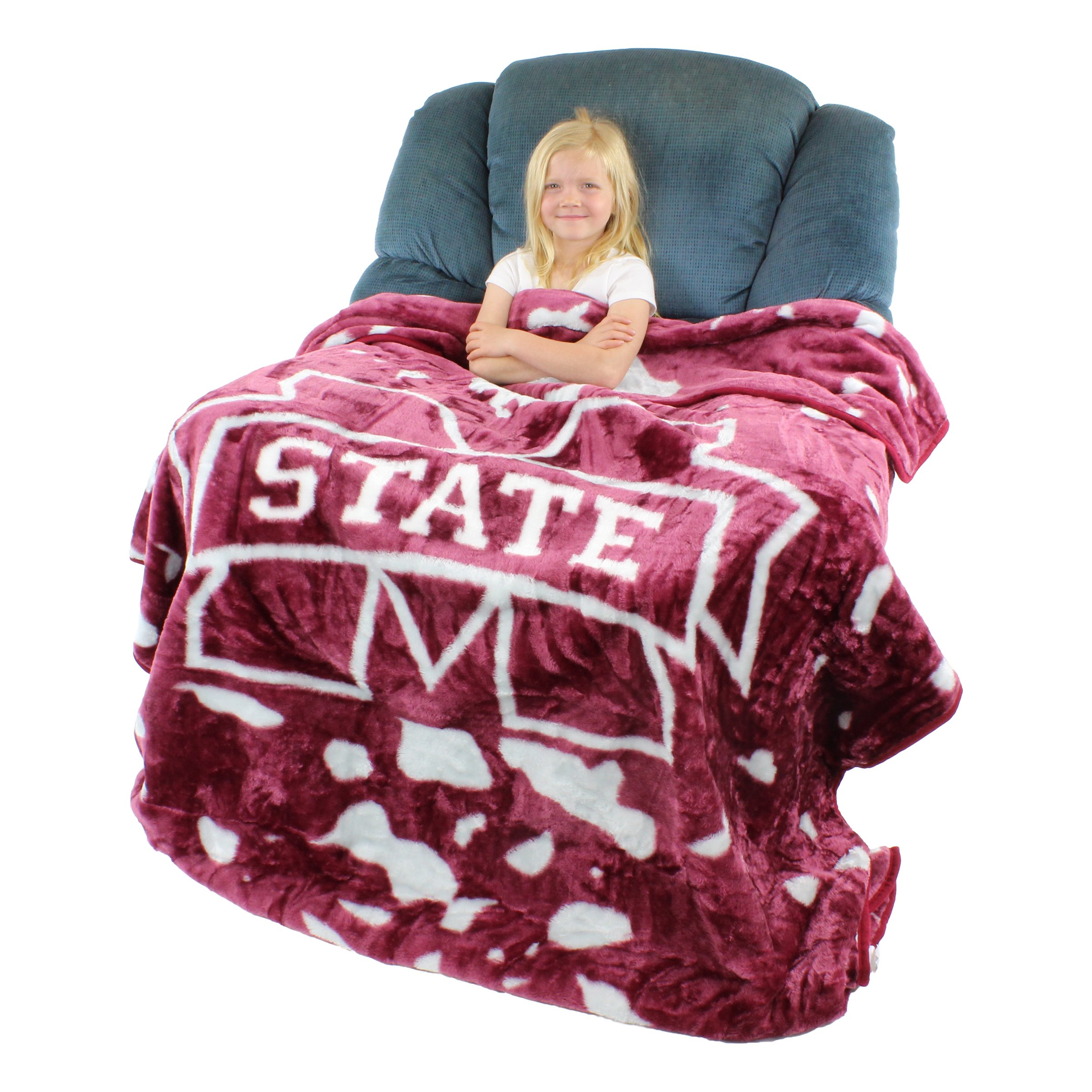 College Covers Mississippi State Bulldogs Soft Rachel Plush Throw Blanket, 63 x 86''