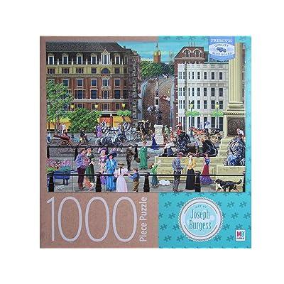 Trafalagar Square, by Joseph Burgess 1000 Piece Premium Blue Board Jigsaw Puzzle (20 x 27 Inches): Toys & Games