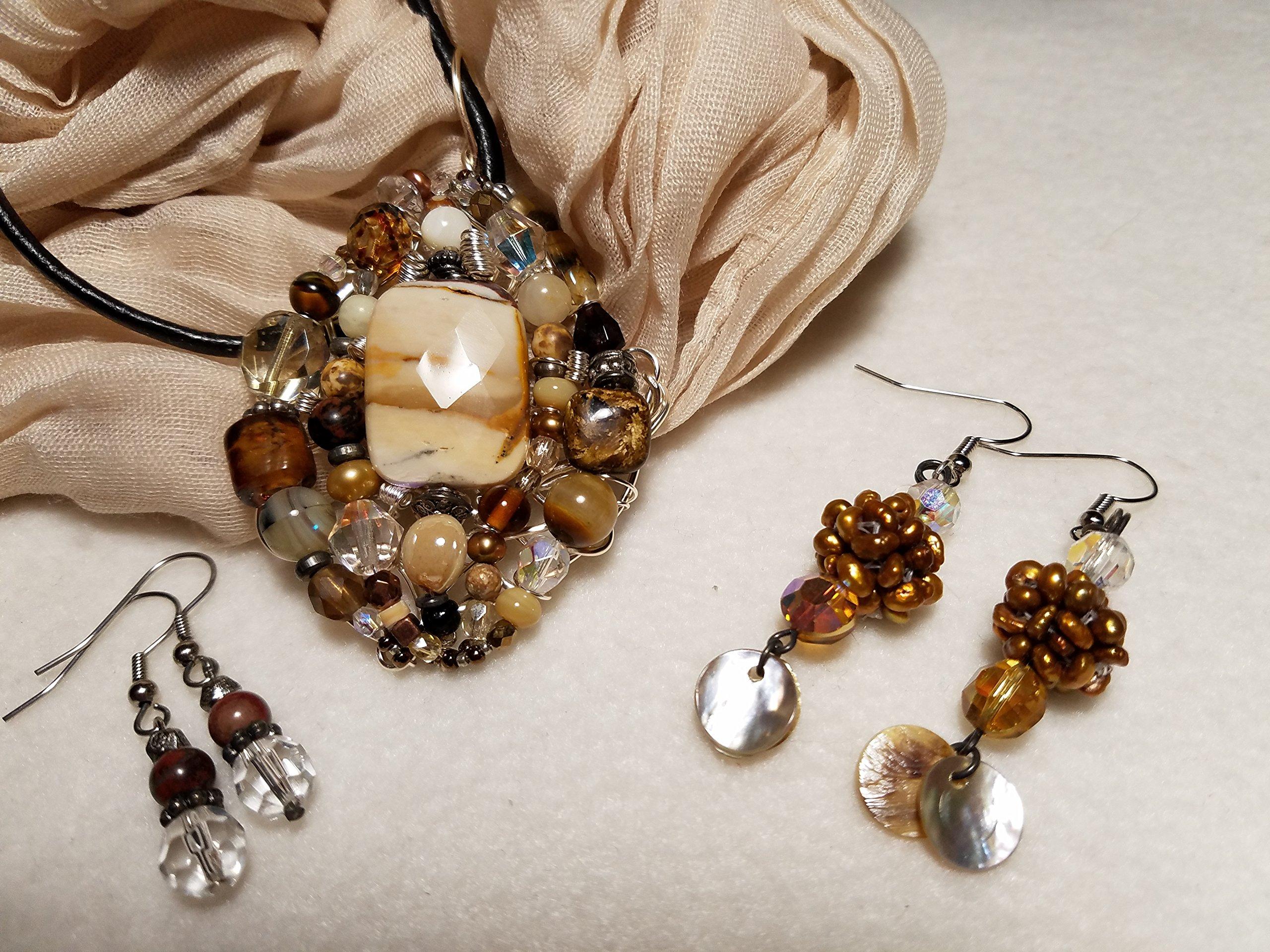 Jasper Pendant w/2 Earrings