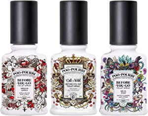 Poo-Pourri Before You Go Toilet Spray Call of the Wild, Wild Pear and No2 2 Ounce Bottles