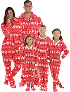 Amazon.com  Footed Pajamas - Family Matching Red Christmas Onesies ... 45ec0cf72