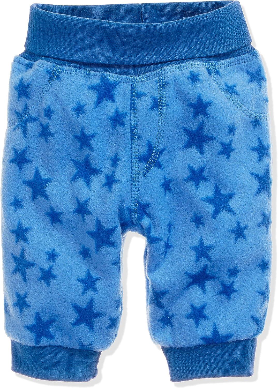 Schnizler Unisex Baby Hose Fleece Pumphose Babyhose Sterne mit Strickbund Oeko-Tex Standard 100