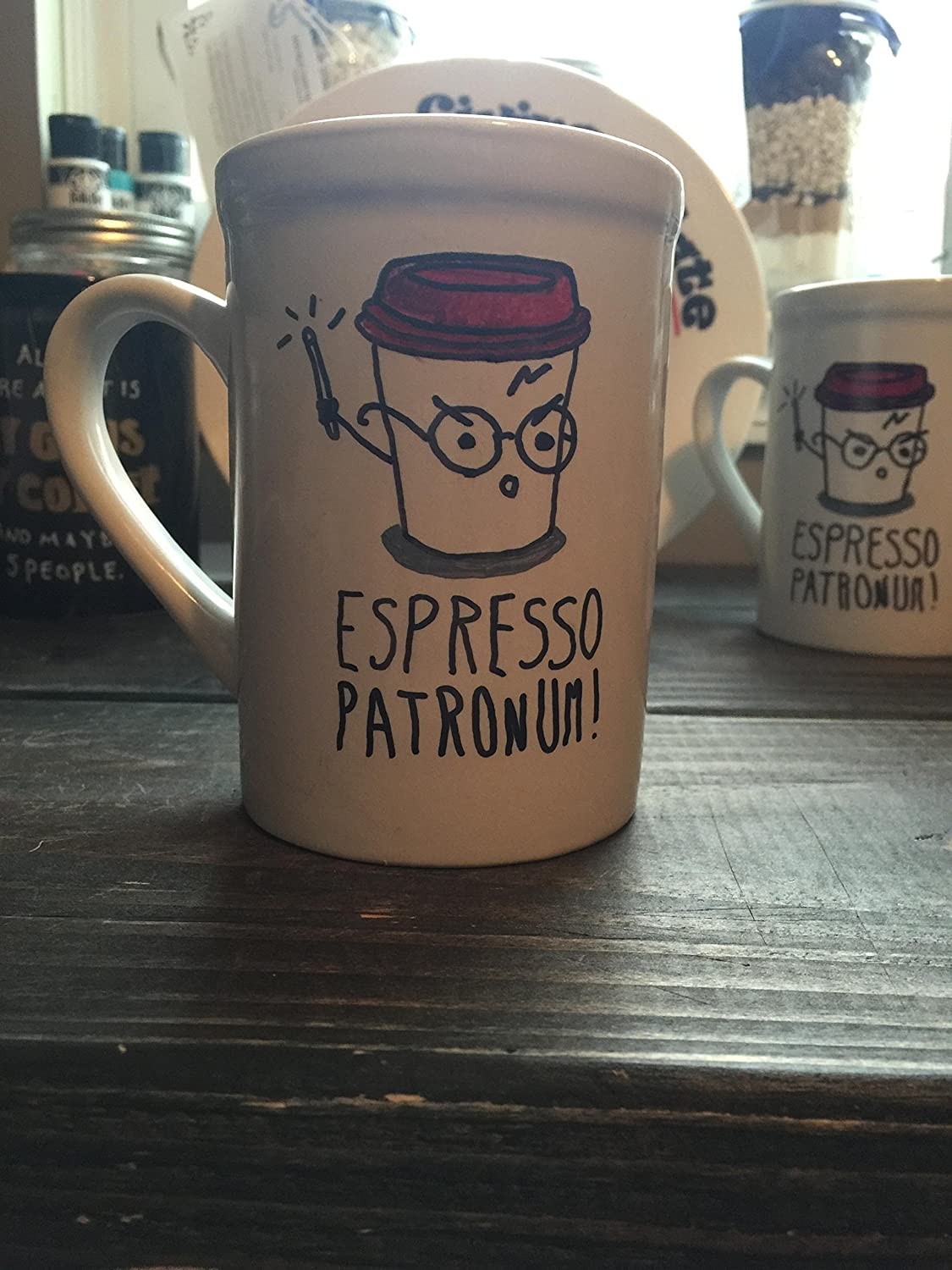 Amazon.com Harry Potter/Harry Potter Hand Painted Mug/Harry Potter Gift/Harry Potter Birthday/Harry Potter Gift Ideas/Espresso Patronum/Gift Handmade & Amazon.com: Harry Potter/Harry Potter Hand Painted Mug/Harry Potter ...